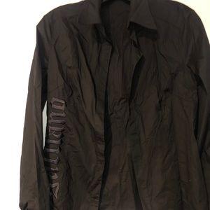 John Galliano embroidered black shirt size 30/44